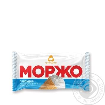 Three Bears Morzho Ice-cream in waffle cup 80g - buy, prices for Metro - image 1