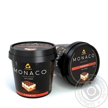 Мороженое Три Медведя Monaco Dessert Тирамису в пластиковом стаканчике 70г - купить, цены на Ашан - фото 1