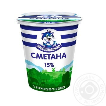 Сметана Простоквашино 15% 340г - купити, ціни на Фуршет - фото 1