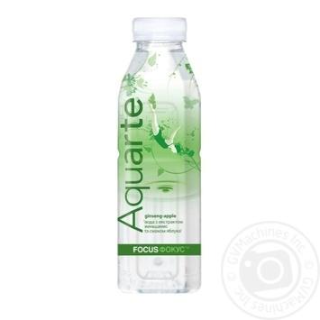 Вода Aquarte Фокус с экстрактом женьшеня и вкусом яблока 500мл - купить, цены на МегаМаркет - фото 1