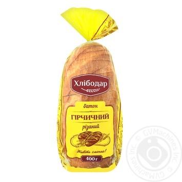 Батон Хлібодар гірчичний різаний 400г - купить, цены на Ашан - фото 1