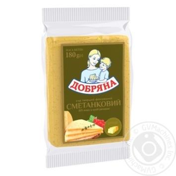 Сыр Добряна Сметанковый 50% 180г