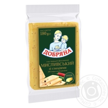 Dobryana Hunting Cheese with Spices 50% 180g