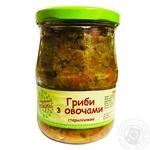 S Babushkinoy Gryadki Canned Mushrooms with Vegetables 480g