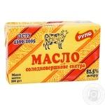 Масло Румо Экстра сладкосливочное 82,5% 200г