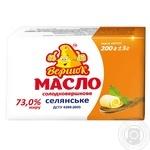 Масло Вершок Селянское сладкосливочное 73% 200г
