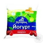 Йогурт Хуторок вишня 1,5% 400мл