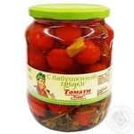 S Babushkynoj Grjadky Canned Cherry Tomatoes with Herbs 920g