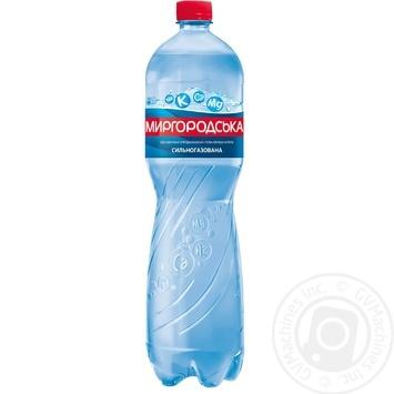 Мінеральна вода Миргородська природна сильногазована 1,5л