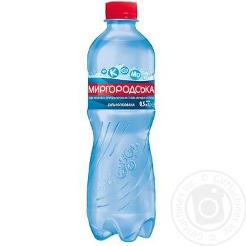 Минеральная вода Миргородская природная сильногазированная 0,5л - купить, цены на Novus - фото 1