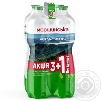 Вода Моршинская минеральная слабогазированная 4шт*1,5л