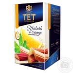 Чай чорний ТЕТ з ревенем і апельсином 20шт*2г