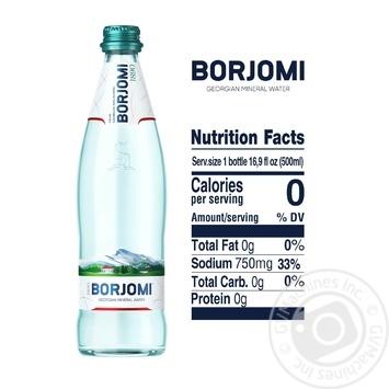 Вода Borjomi мінеральна сильногазована 0,5л - купити, ціни на МегаМаркет - фото 3