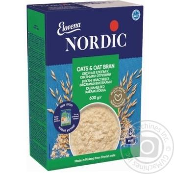 Хлопья овсяные Нордик с отрубями 600г - купить, цены на Novus - фото 1