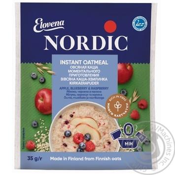 Каша овсяная Нордик яблоко черника малина моментального приготовления 35г Финляндия - купить, цены на МегаМаркет - фото 1