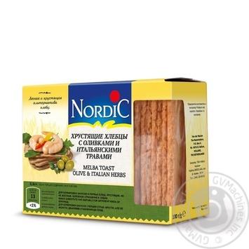 Хлебцы Nordic хрустящие с оливками и итальянскими травами 100г - купить, цены на Novus - фото 1