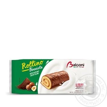 Рулеты Balconi с орехом мини 6шт*37г - купить, цены на Varus - фото 1