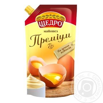 Майонез Щедро Премиум 72% 350г - купить, цены на Novus - фото 1