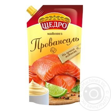 Schedro Provansalʹ mayonnaise 67% 550g - buy, prices for MegaMarket - image 1