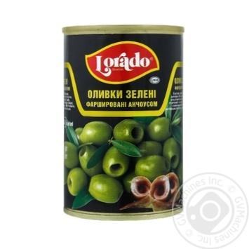 Оливки Lorado фаршированные анчоусом 300г - купить, цены на Varus - фото 1