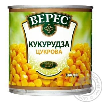 Кукуруза Верес сахарная 340г - купить, цены на Ашан - фото 1
