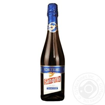 Винный напиток Коктебель Сангрия газированный красный полусладкий 6,9% 0,75 - купить, цены на СитиМаркет - фото 1