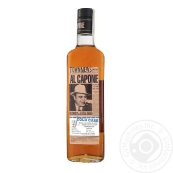 Напиток Аль Капоне алкогольный выдержан 40% 0,5л - купить, цены на Ашан - фото 1
