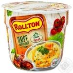 Пюре Rollton картофельное со вкусом курицы 40г