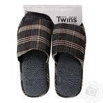 Twins HS-VL Brown Men's Indoor Slippers size 42/43 - buy, prices for Novus - image 1