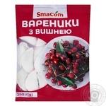 Вареники SmaCom с вишней замороженные 350г - купить, цены на ЕКО Маркет - фото 1