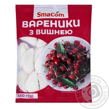Вареники SmaCom з вишнею заморожені 350г - купити, ціни на ЕКО Маркет - фото 1