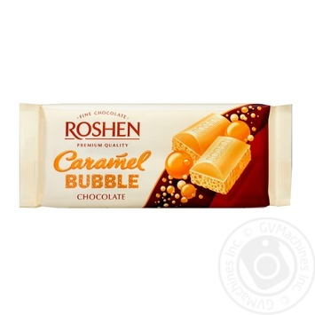 Roshen with caramel air white chocolate 80g - buy, prices for Furshet - image 1