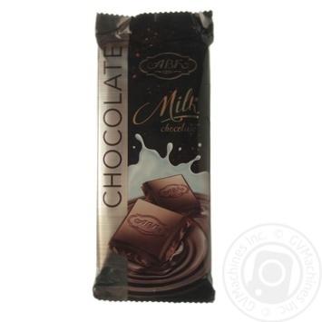 Шоколад молочный АВК 24% молока 90г - купить, цены на Novus - фото 1