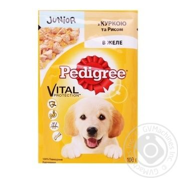 Корм Pedigree для щенков с курицей и рисом в желе 100г - купить, цены на Фуршет - фото 2