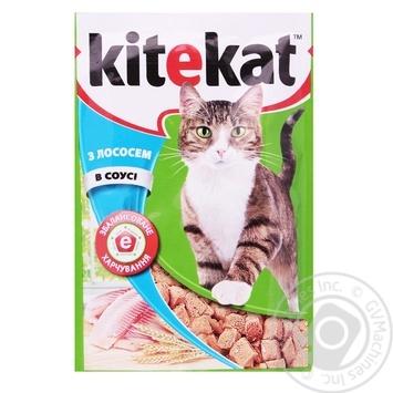 Корм для взрослых котов Kitekat с рыбой в соусе 100г - купить, цены на Ашан - фото 2