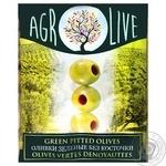 Оливки Agrolive зеленые без косточки 170г