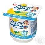 Творжок Агуша яблоко-банан для детей с 8 месяцев 3.9% 100г