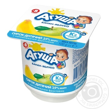 Agusha For Babies From 8 Months Apple-Banana Cottage Cheese 3.9% 100g