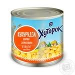 Кукуруза Хуторок сахарная 410г - купить, цены на Novus - фото 1