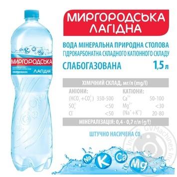 Мінеральна вода Миргородська Лагідна природна слабогазована 1,5л - купити, ціни на Ашан - фото 3