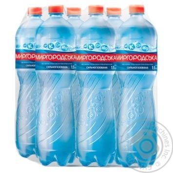 Вода Миргородська мінеральна сильногазована 1,5л - купити, ціни на Метро - фото 1