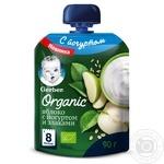 Пюре фруктово-йогуртовое Gerber Organic Яблоко со злаками 90г