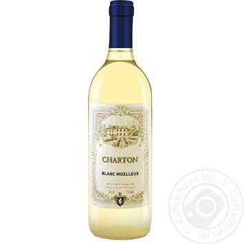 Вино Charton Blanc Moelleux белое полусладкое 10% 0,75л - купить, цены на УльтраМаркет - фото 1