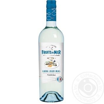 Gourmet Pere & Fils Fruits de Mer Entre Deux Mers white dry wine 11.5% 0,75l - buy, prices for CityMarket - photo 1