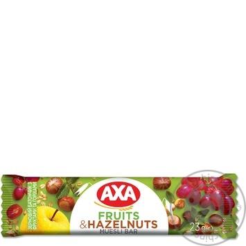 Батончик АХА зерновой с фруктами и орехами 23г - купить, цены на Novus - фото 1