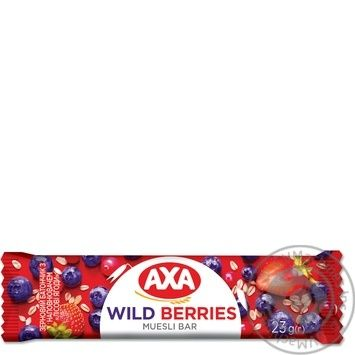 АХА With Wild Berries Filling Grain Bar 23g - buy, prices for CityMarket - photo 1