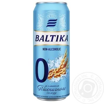 Пиво Балтика №0 безалкогольное нефильтрованое ж/б 0,5% 0,5л - купить, цены на МегаМаркет - фото 1