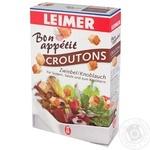 Сухарики Leimer Croutons со вкусом лука и чеснока 100г