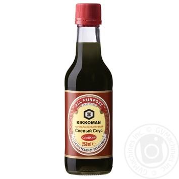 Соус Kikkoman сладкий соевый 250мл - купить, цены на МегаМаркет - фото 1