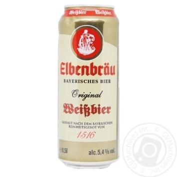 Elbenbrau Original Weissbier Unfiltered Wheat Beer 5.4% 0.5L